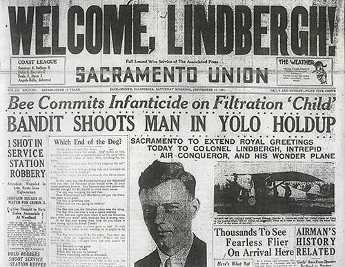 Lindbergh Sacramento Union