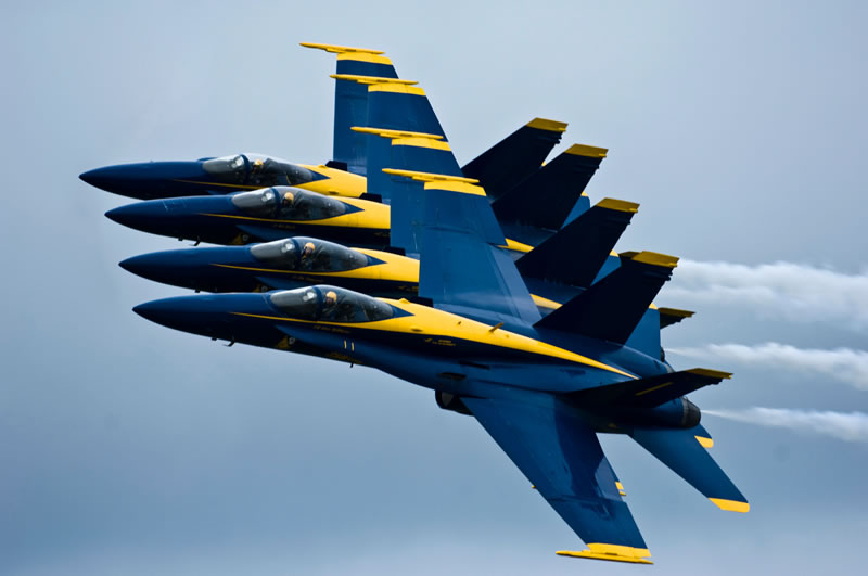 US Navy Blue Angels (Stacked)